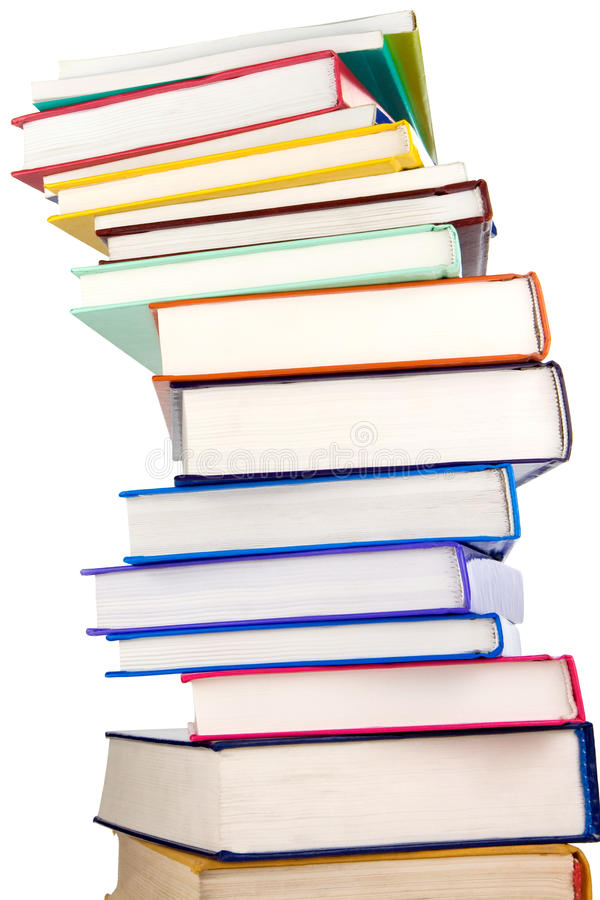 Download Pile Of New Books Isolated On White Stock Image - Image: 17759951
