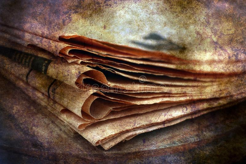 Pile of newspaper grunge concept royalty free stock image
