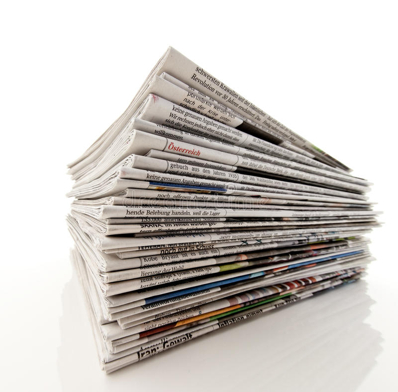 Download Pile of newspapers stock photo. Image of folded, paper - 11581320