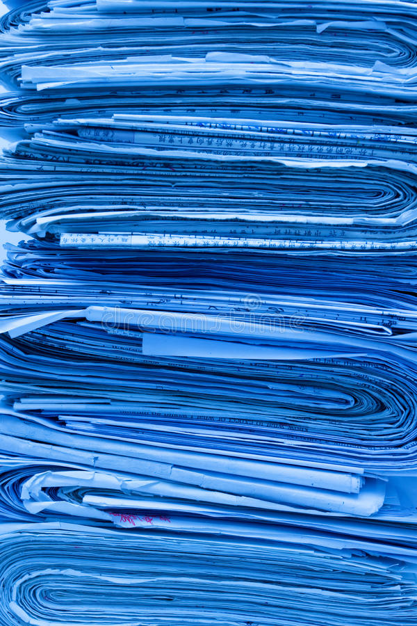 Download Pile of newspapers stock image. Image of detail, close - 15757105
