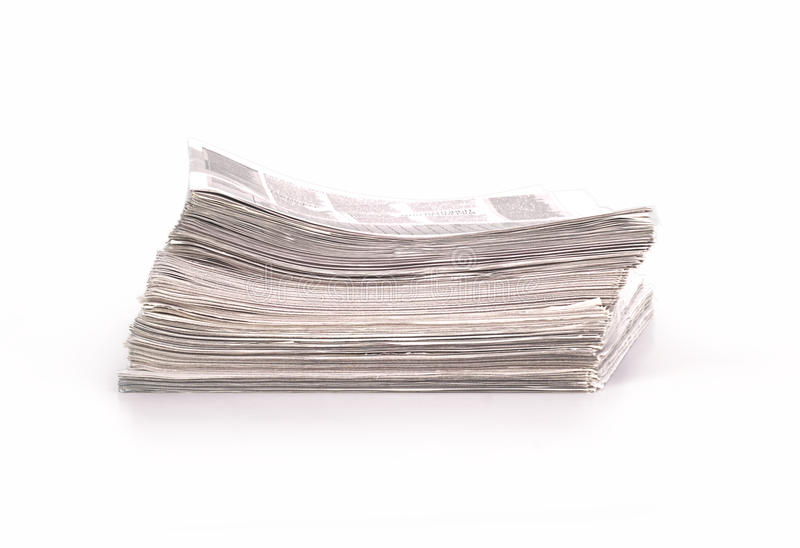 A pile of newspapers. On white background vector illustration
