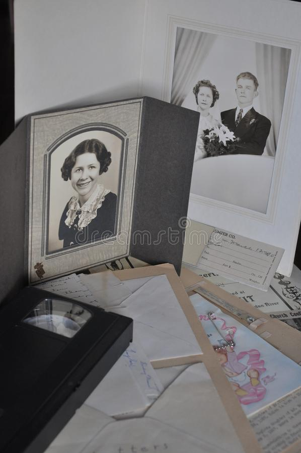 Articles of a Family History royalty free stock photo