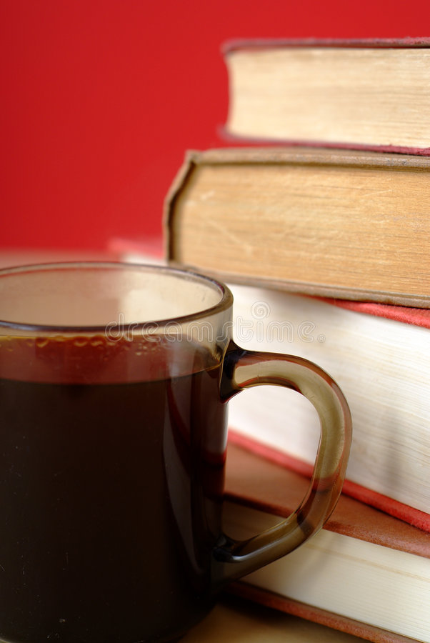 Free Pile Of Books And Coffee Cup Close Up Royalty Free Stock Photography - 1814137