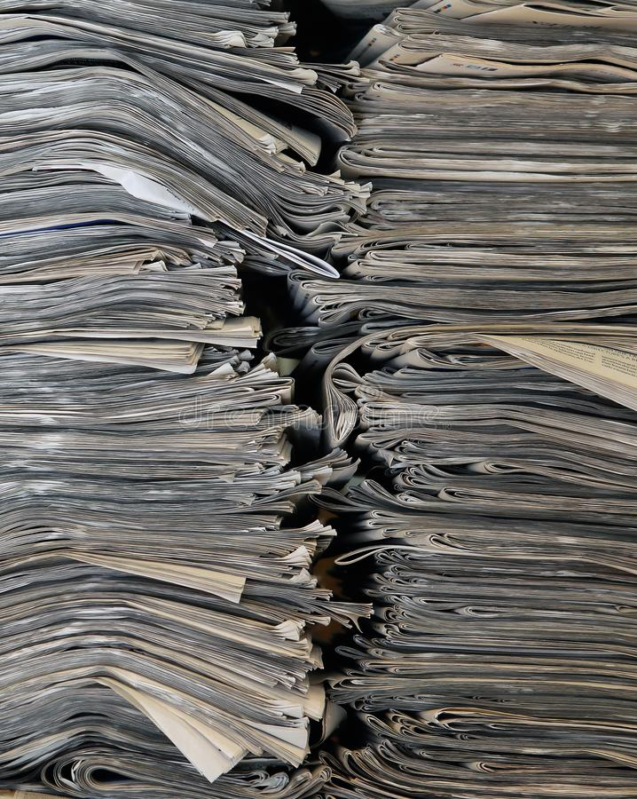 Free Pile Of Newspapers Vertical Background Royalty Free Stock Images - 104372579