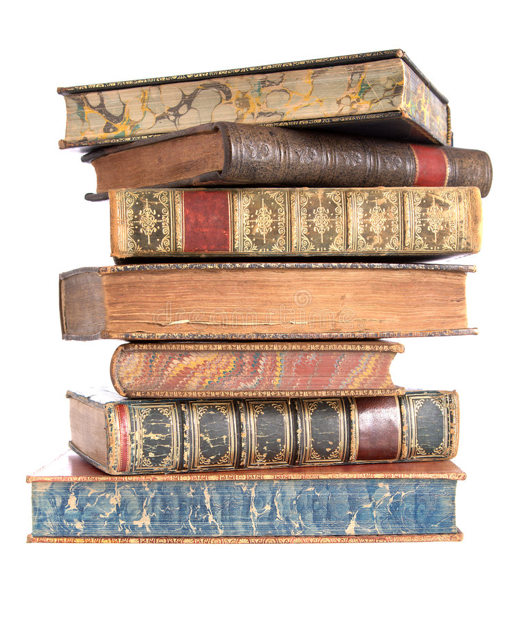 Free Pile Of Old Leather Bound Books Stock Image - 7876561