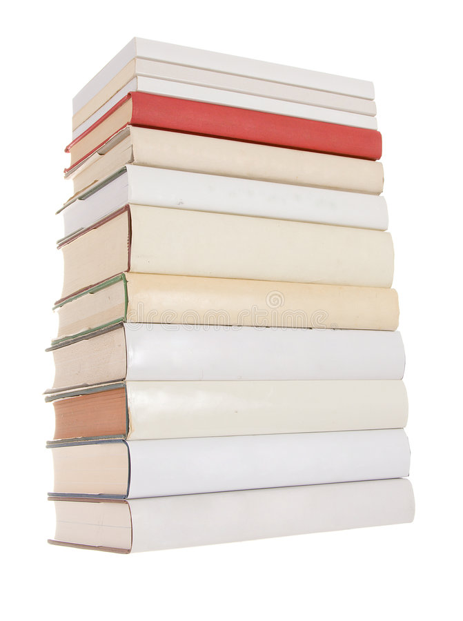 Free Pile Of White Books With One Red Book Stock Image - 7388911