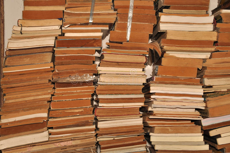 A pile of old books