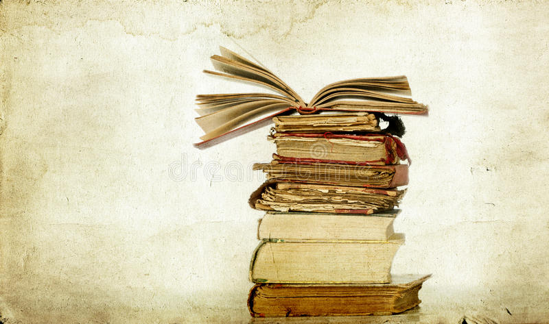 Download Pile of old books stock image. Image of culture, photo - 33036223
