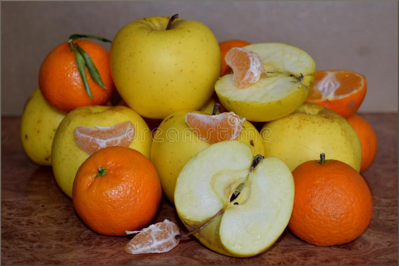 A pile of oranges stock photos