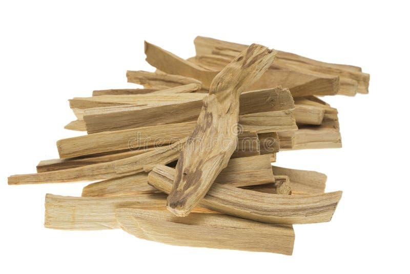 Pile of palo santo or holy wood sticks isolated on white background stock photography