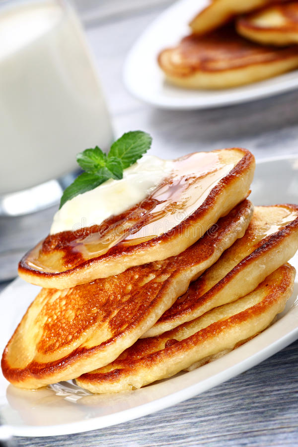 Download Pile of pancakes stock photo. Image of home, tasty, made - 43135628
