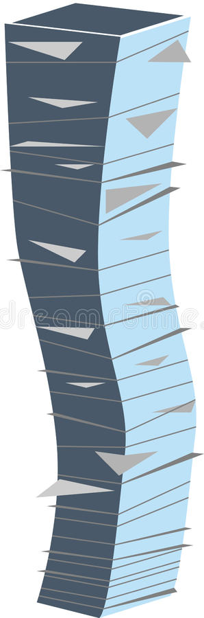 Pile of paper stock illustration