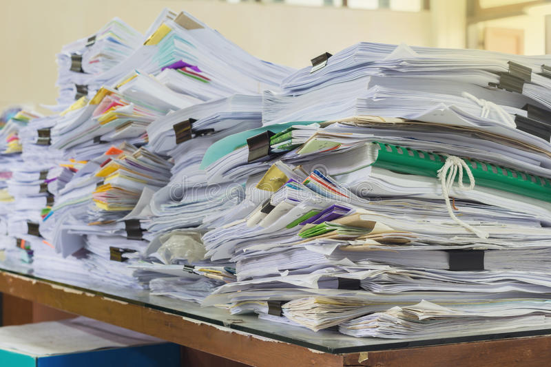 Pile of papers stock images