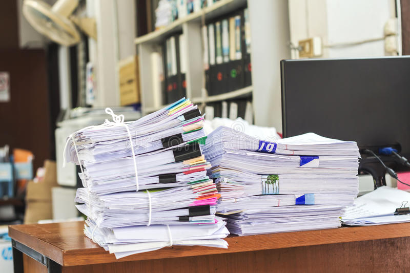 Pile of papers royalty free stock images