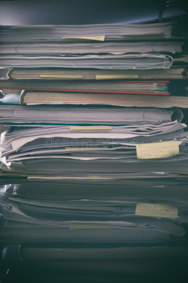 Pile of Paperwork - gritty look stock photography