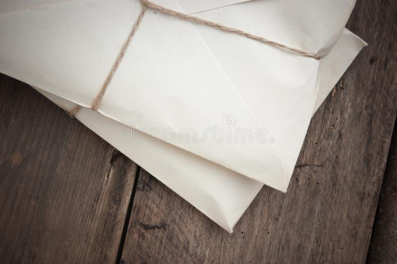 pile parcel wrapped stock photo