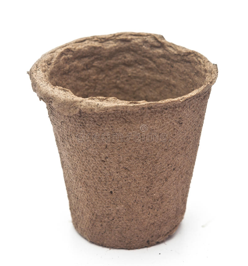 Free Pile Peat Pots For Growing Seedlings Royalty Free Stock Images - 39445079