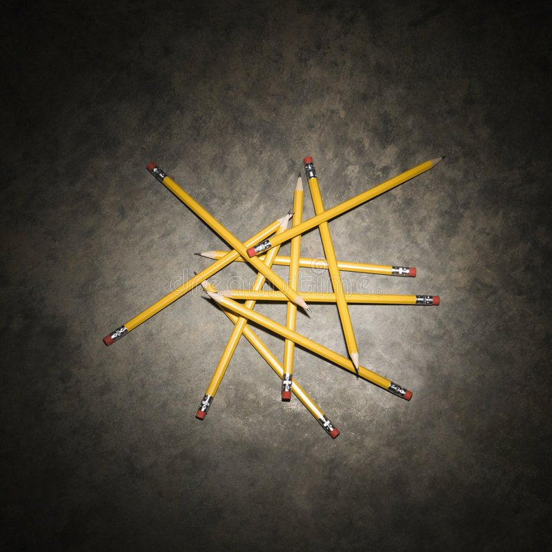 Pile of pencils. royalty free stock image