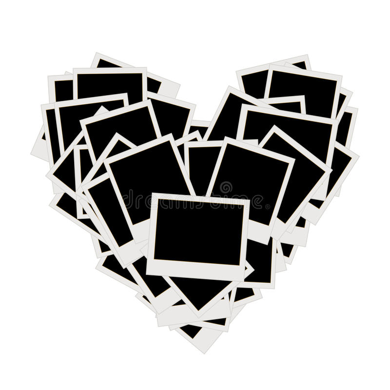 Download Pile Of Photos, Heart Shape, Insert Pictures Stock Vector - Image: 21039350