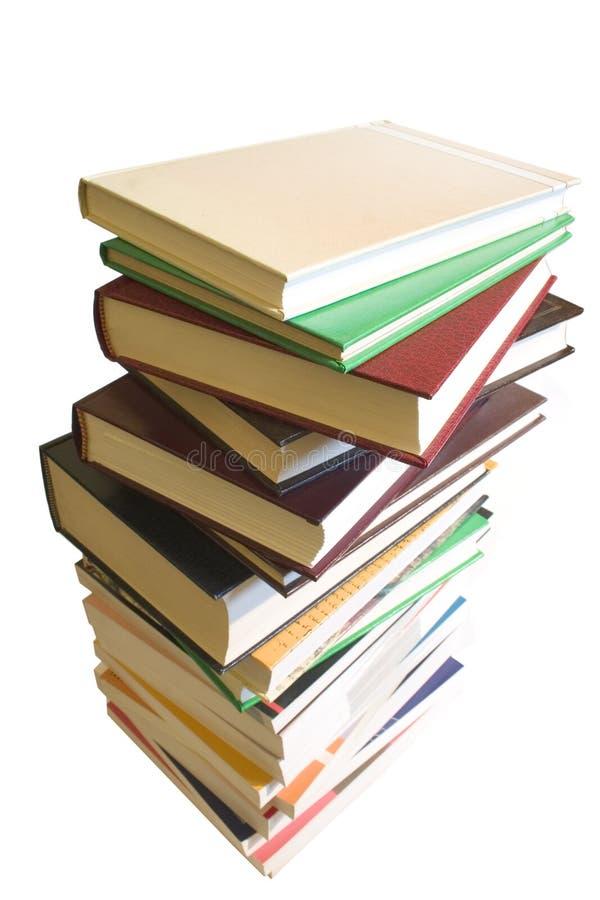 Pile/pile de livre photo libre de droits