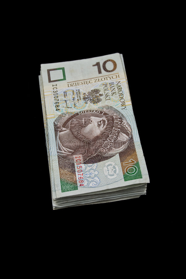 Pile Of Polish Money Royalty Free Stock Photos