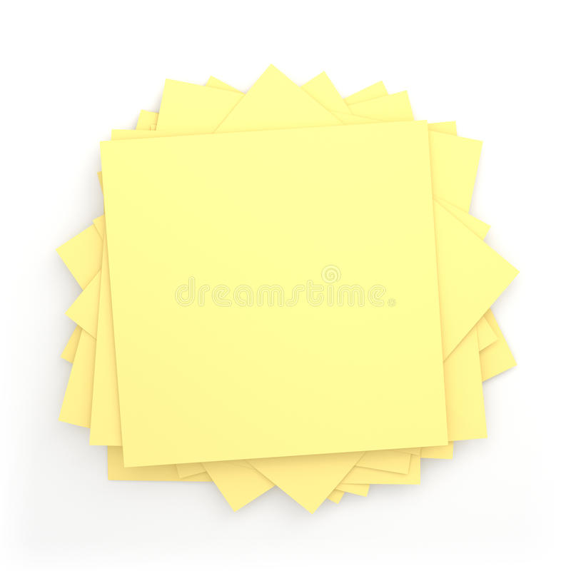 Pile Of Post-it. 3D Pile of Post-it - Isolated (white background vector illustration