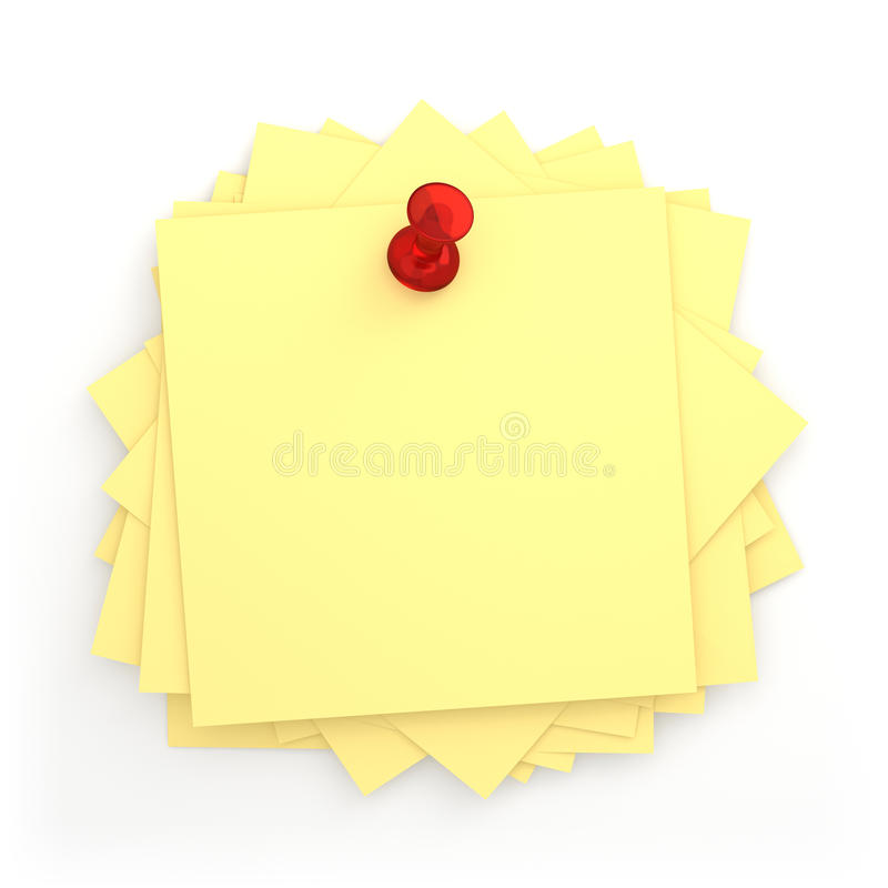 Pile Of Post-it Stock Images