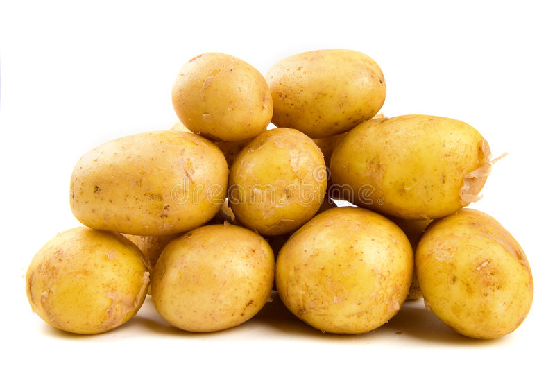 Pile of potatoes stock photos