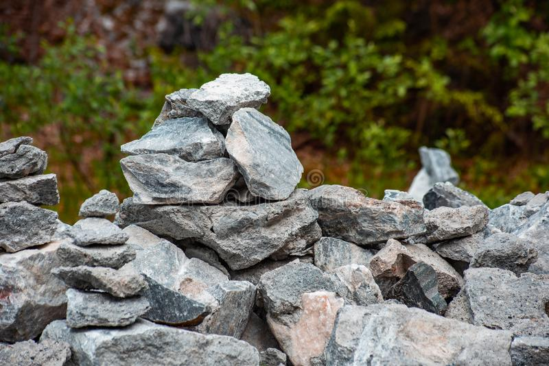 A pile of real pyramid shaped stones, soft focus. A pile of real pyramid shaped stones is close, soft focus, harmony, meditation, equilibrium, relaxation royalty free stock photos
