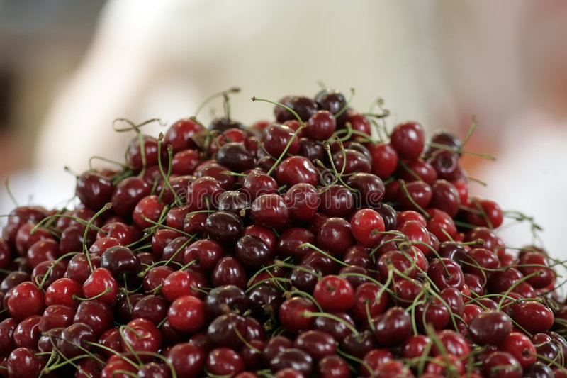 Download Pile of red cherries stock image. Image of farming, bright - 5427357