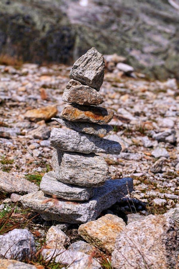 Pile of rocks stock image