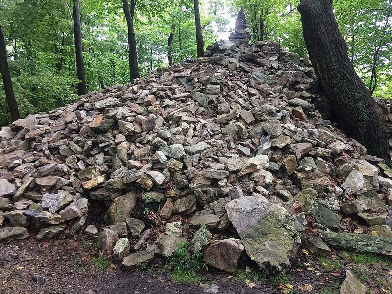Pile of Rocks on Mountain Top stock photo