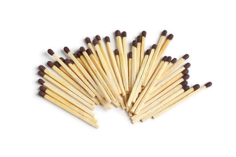 Pile of Safety Match Sticks royalty free stock photo