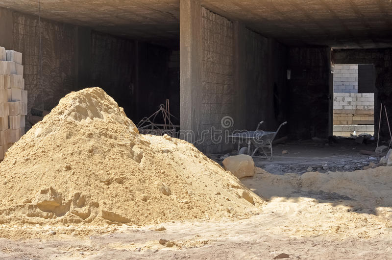 Download Pile of sand stock image. Image of piles, material, resource - 26386679