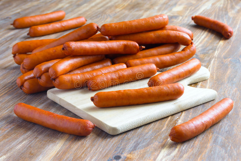 Pile of sausages royalty free stock images