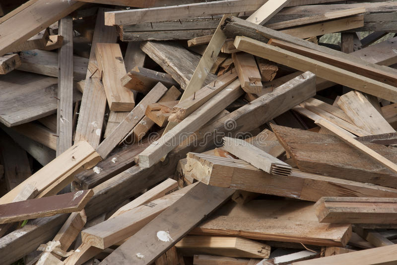 Pile of scrap lumber stock image wood