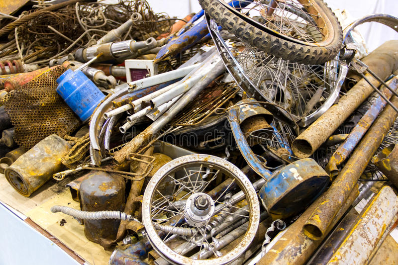 Pile of scrap metal. For recycling stock images