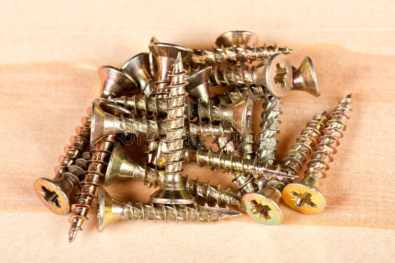 Download Pile of screws stock photo. Image of head, chrome, industry - 26432516