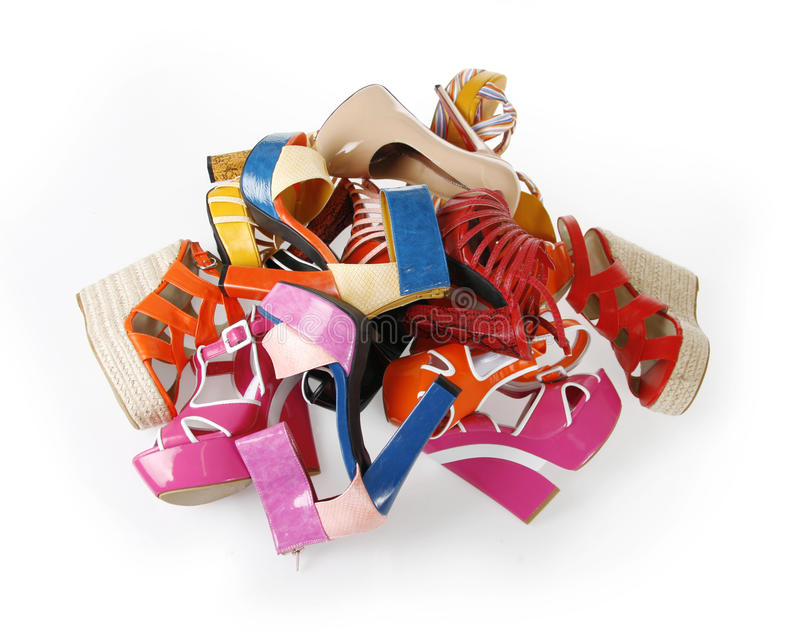 Download Pile of shoes stock photo. Image of pile, pattern, elegant - 23876520