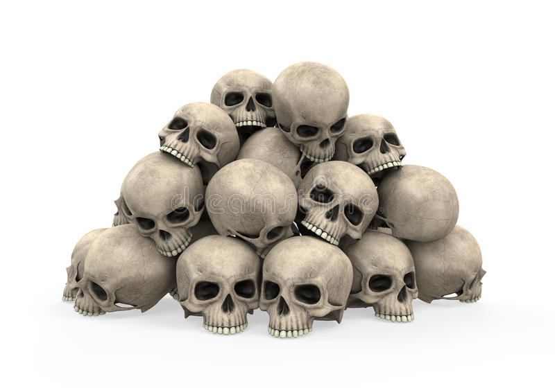 Pile of Skulls royalty free illustration