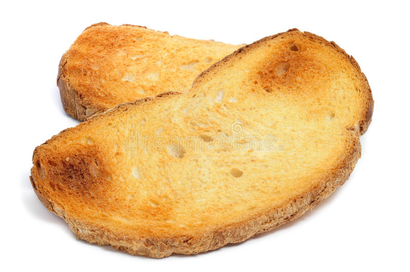 Slices of toasted bread royalty free stock image