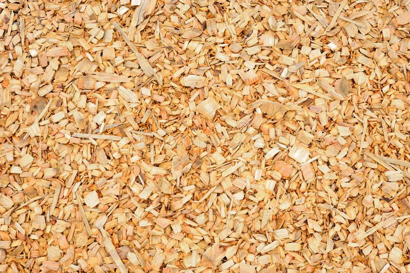 Pile of small pieces of scrap wood background royalty free stock photos