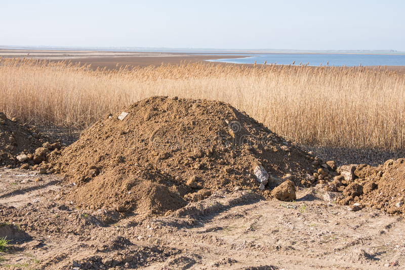 Pile soil intended for sleep swamp stock image