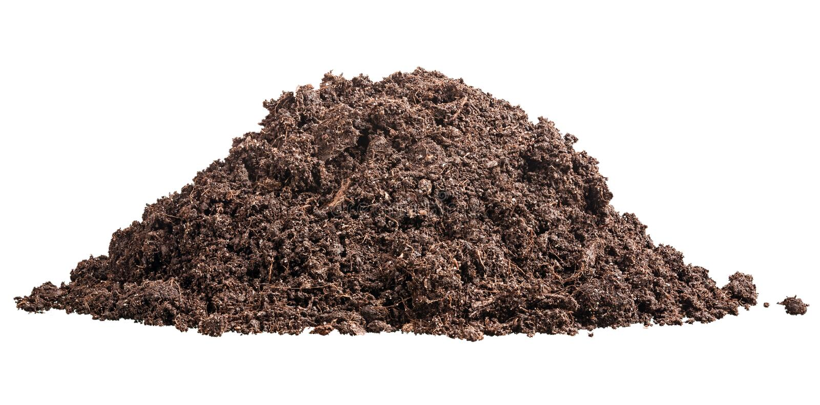 Pile of soil stock photography