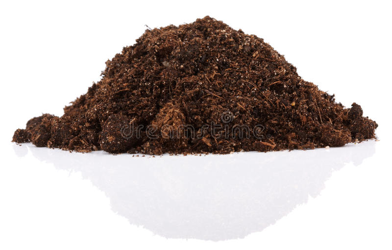 Pile of soil for plant royalty free stock images