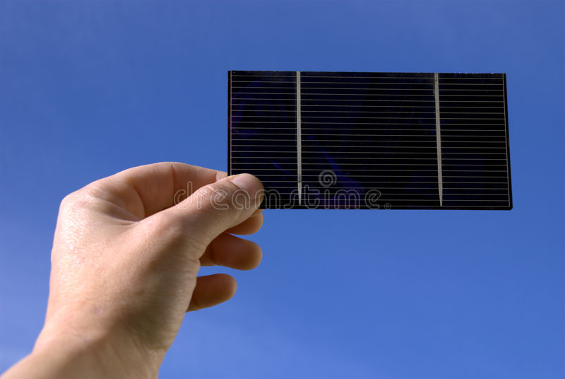 Pile solaire image stock