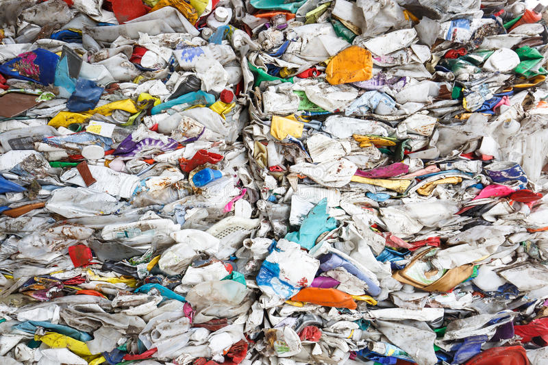 Pile of sorted plastic waste stock photos