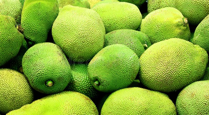 A pile of jack fruit to sale in the market. royalty free stock photos