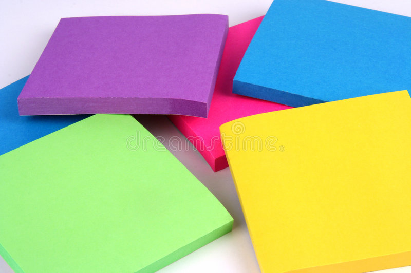 Pile of Sticky Notes royalty free stock photo