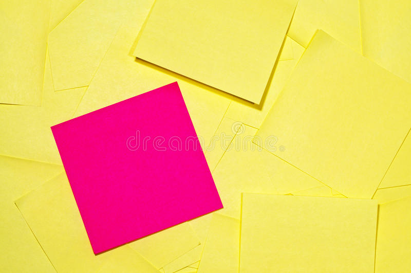 Pile of Sticky Notes royalty free stock photos